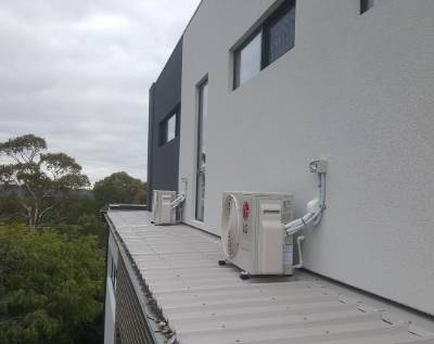 Air conditioning installed in on the roof tops